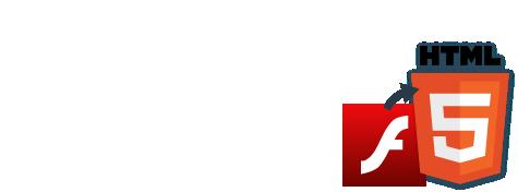 「Flash→HTML5変換サービス」は、Adobe Flash対応で作成された視聴型コンテンツをHTML5対応の視聴型コンテンツに作り直す制作サービスです。